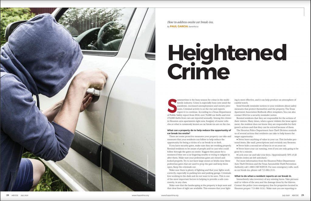 Heightened Crime Paul Garcia - SentriForce